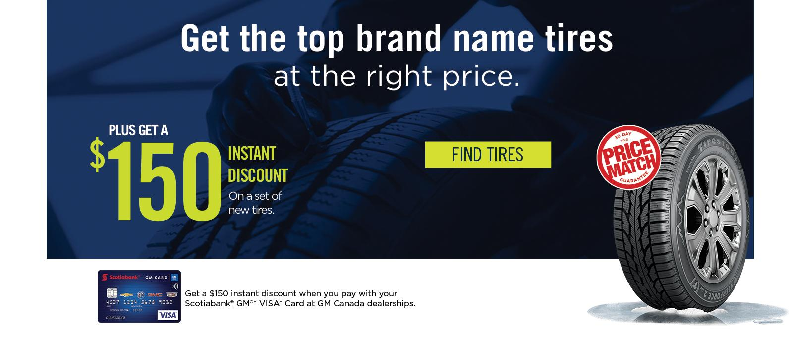 Get the top brand name tires at the right price